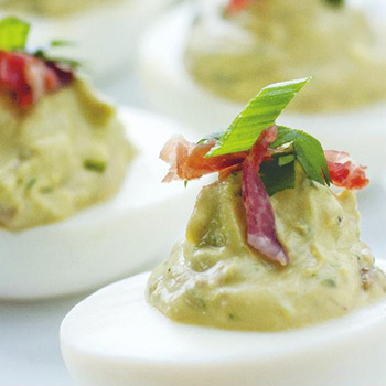 Image of Avocado Deviled Eggs
