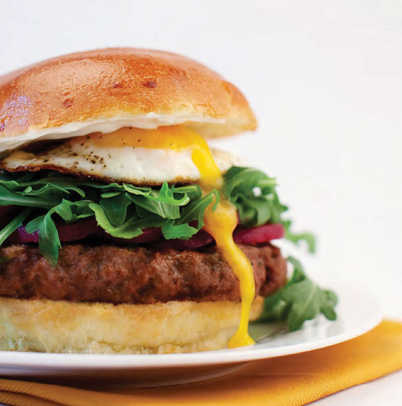 Down Under Hamburger With Rocket & Fried Egg
